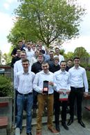 Die Gewinnerinnen und Gewinner der sechs Förderpreise für ihre Projektarbeiten.
